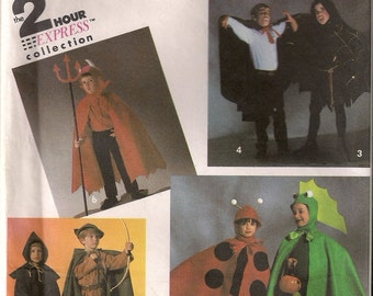Simplicity Costume Sewing Pattern 8270 - Child's Devil, Vampire, Robin Hood, Monk Costumes (S-L)