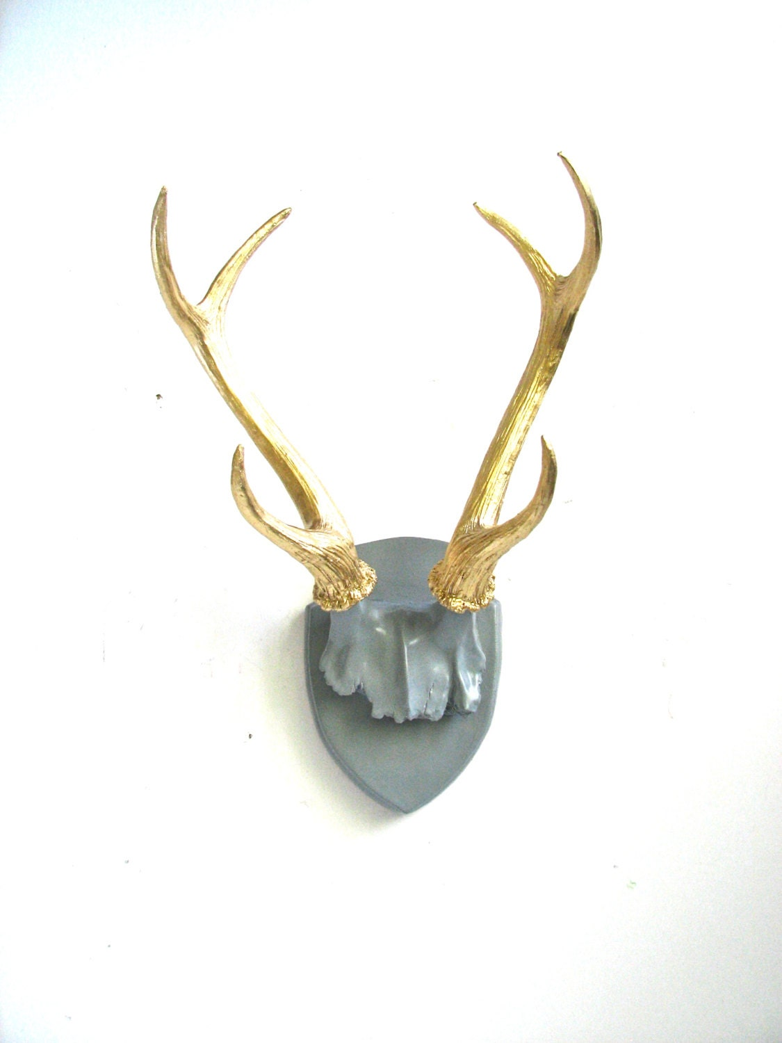 Faux antlers plaque wall hanging rustic modern wall antlers zoom amipublicfo Images