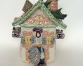 Garden Gnome Whimsical Toad House