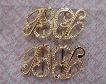 2 Vintage Retro Metal Clasp Buckle Closure From 1970s
