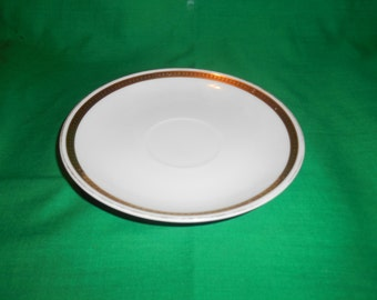 """One (1), 5 5/8"""" Porcelain, Tea Cup Saucer, From Nippon Noritake, in the Angora 58585 Pattern."""