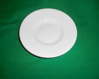 "One (1), 4 3/4"", Bone China, Saucer, from Coalport, in the Tiffany White Pattern."