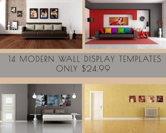 14 wall display gallery templates perfect for by - Photo wall display template ...