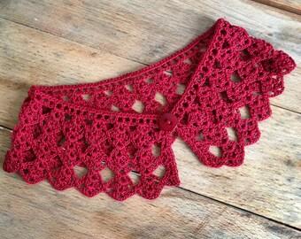 Spring handmade crochet collar