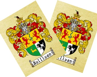 Coat of Arms / Family Crest printed on Parchment style paper or on Canvas