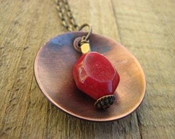 Red Boho Necklace