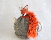 Foxy Tea Cosy Handknitted Tea Cozy