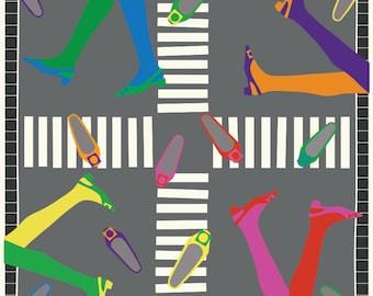 Vintage Inspired 60s Legs print // Fashion print // Fashion illustration