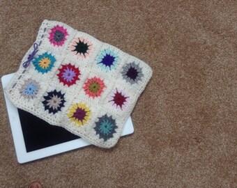 Hand made crocheted iPad case