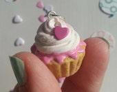 Tiny Cupcake Heart Necklace