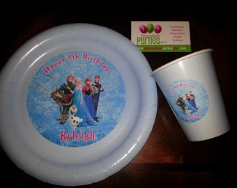 Frozen plates and cups | Frozen birthday plates