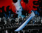 Friday The 13th Movie Part VIII Jason Takes Manhatten Counter Top Stand-Up Display - Gift Memorabilia Collection Collector Vintage Retro