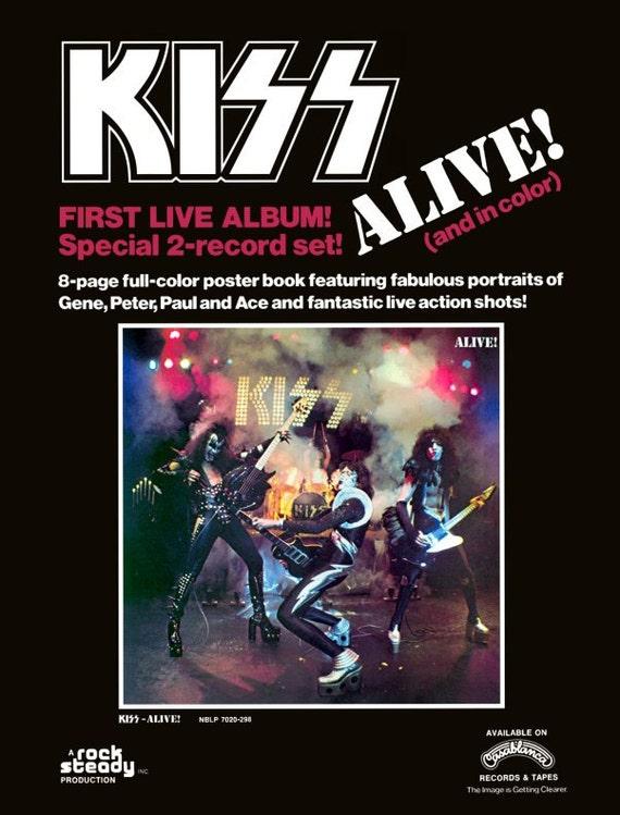 KISS ALIVE Album Sales Promo Stand-Up Display