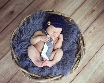 Newsboy Baby Boy Hat, Crochet Baby Boy Hat, Newborn Photo Prop