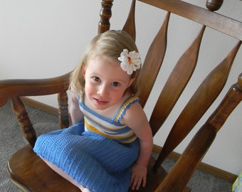 Crochet pattern - Nancy Dress, Crochet dress pattern, Crochet Summer Dress Pattern for a Girl, Crochet sundress pattern, Crochet dress