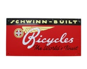 Vintage Schwinn Bicycle Sign