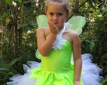 Tinker Bell Costume, TinkerBell Tutu Dress, Disney Birthday Tutu Dress, Girls Halloween Costume