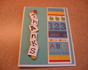 thank you card for the teacher