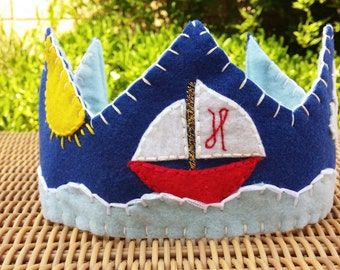 Nautical Felt Birthday Crown