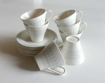 Set of Figgjo Flint Teacups and Saucers