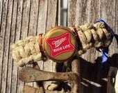 Miller High Life Bottle Cap Hemp Bracelet