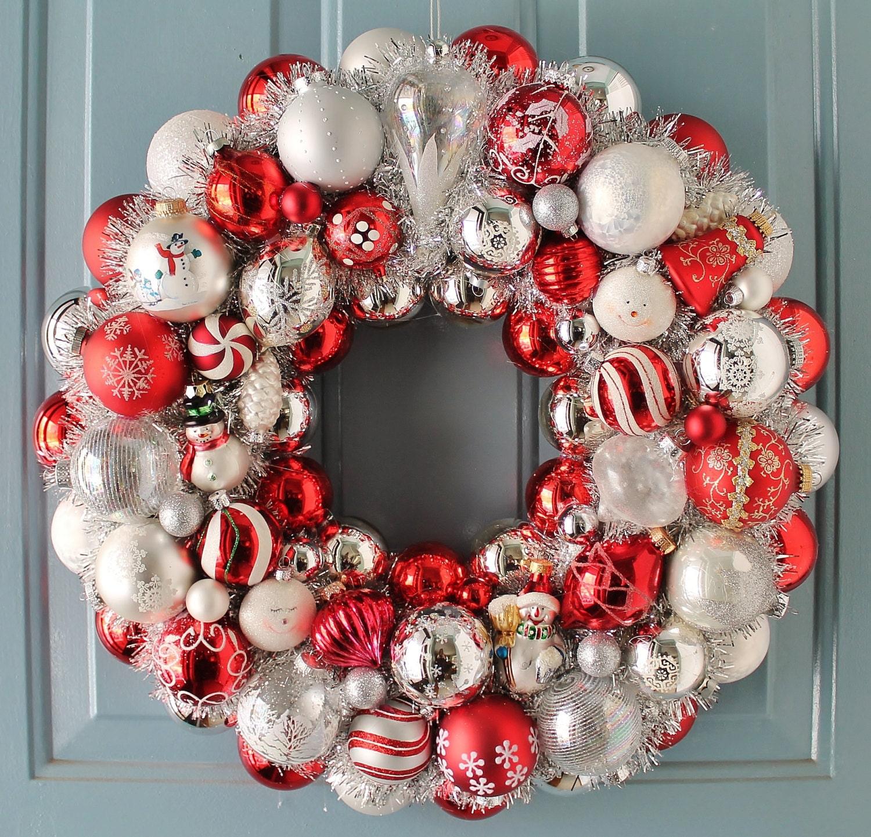 Christmas Wreath Snowman Ornament Wreath