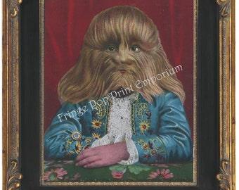 Victorian Sideshow Circus Freak Art Print 8 x 10 - Lionel The Lion Faced Boy