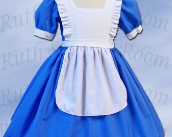 Alice in Wonderland-inspired Dress, Disney Vacation Dress, Alice Tea Party Dress, Girls Dress, Princess Dress, Birthday Party, School Play