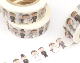 Bride and Groom Wedding Washi Tape - R803
