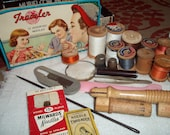 Vintage Sewing Supplies and Tools Vintage Box Full