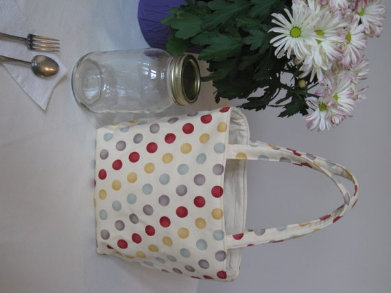 mason jar lunch bag tote quart size by linniepins on etsy. Black Bedroom Furniture Sets. Home Design Ideas