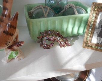 SALE Stunning Juliana Glass Marquis Aurora Borealis Brooch Pin