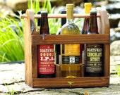 Bomber Carrier - SIX Pack Carrier - 22 oz - Beer Bottle Carrier - Bottle Opener - Wine Bottle Caddy - Men - Groomsmen Gift