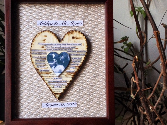 First anniversary gift for man shadow box by papermemoirs