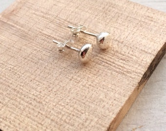 ball percing- ball stud- silver ball earring- single stud- single earrings