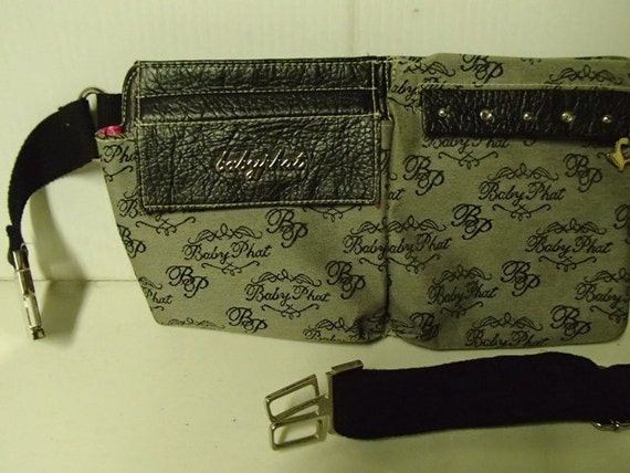Rare1990 Baby Phat Pouch Fanny Pack Purse Black By