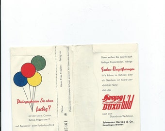 Antique Picture Envelope Advertising Herzog Isodux Film Duxobild From Johannes Herzog & Co. Hemelingen/Bremen Germany In German Language