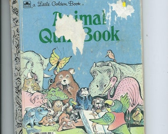 Vtg. Little Golden Book Animal Quiz Book 1983 Ed T Print Great Book to Show the Child Differences in All Animals Sold AS IS