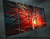 """Modern Original Metal Wall Art Abstract Large Painting Sculpture Indoor Outdoor Decor """"Sunshine"""" by Ning"""
