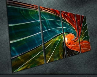 """Original Handmade Metal Wall Art Modern Abstract Indoor Outdoor Decor """"The energy of the universe"""" by Ning"""