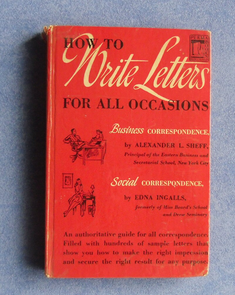 Vintage Book How To Write Letters For All Occasions