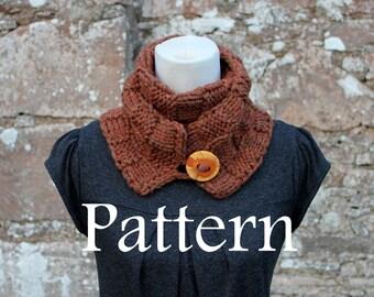 KNITTING PATTERN - Bronze skinny button scarf - Listing93