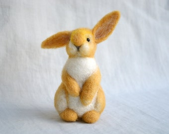 Bunny....Felt toy Handmade Doll Soft Sculpture OOAK Needle Felted Wool Animals New... I will make this item for your order
