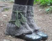 Tree Leg Warmers, Knit Leg Warmers, Wool Leg Warmers, Womens Leg Warmers, Pixie Leg Warmers, Fairy Leg Warmers, Made To Order