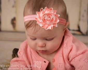 coral headband..girls coral headband..baby girls coral headband..newborn headbands..baby girls headbands..headbands