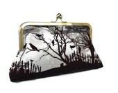 Halloween clutch purse , Handmade clutch,   evening clutch purse, Night of the death themed  clutch bag