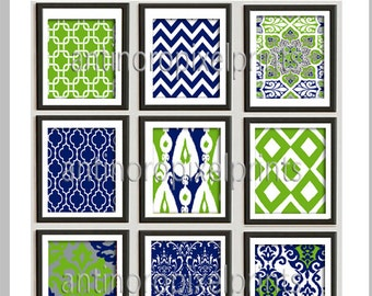 Private listing Unframed  Prints Collection - Set of 9 - 8x10 Prints - Featured in Navy Hunter Green  (UNFRAMED)