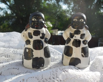 African American Salt and Pepper Shakers  Aunt Jemima :)