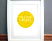 Little Ray of Sunshine Printable Wall Art, Triangle Circle Design, Geometric Triangle Print, Yellow Gold, Downloadable pdf