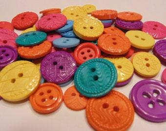 30 piece tropical button mix, 10-20 mm (B11)